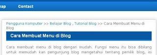 cara membuat breadcrumb di blog