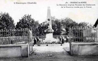 CPA monuments aux Morts du Puy-de-Dôme, Brassac les Mines