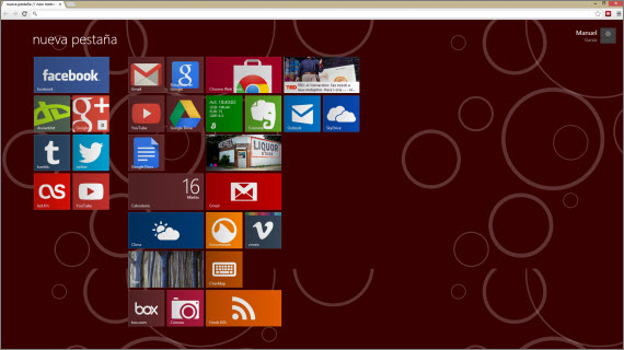 Convierte Chrome en Windows 8 con MetroTAB