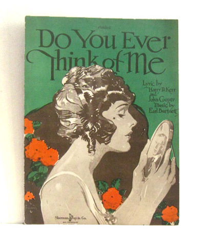 ismoyo's vintage playground: 1920's sheet music art - Do you ever think of me