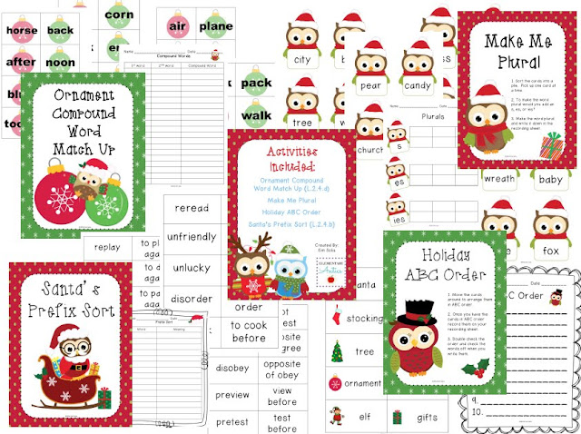 https://www.teacherspayteachers.com/Product/Whoos-Ready-for-the-Holidays-Four-Literacy-Centers-or-Activities-999844