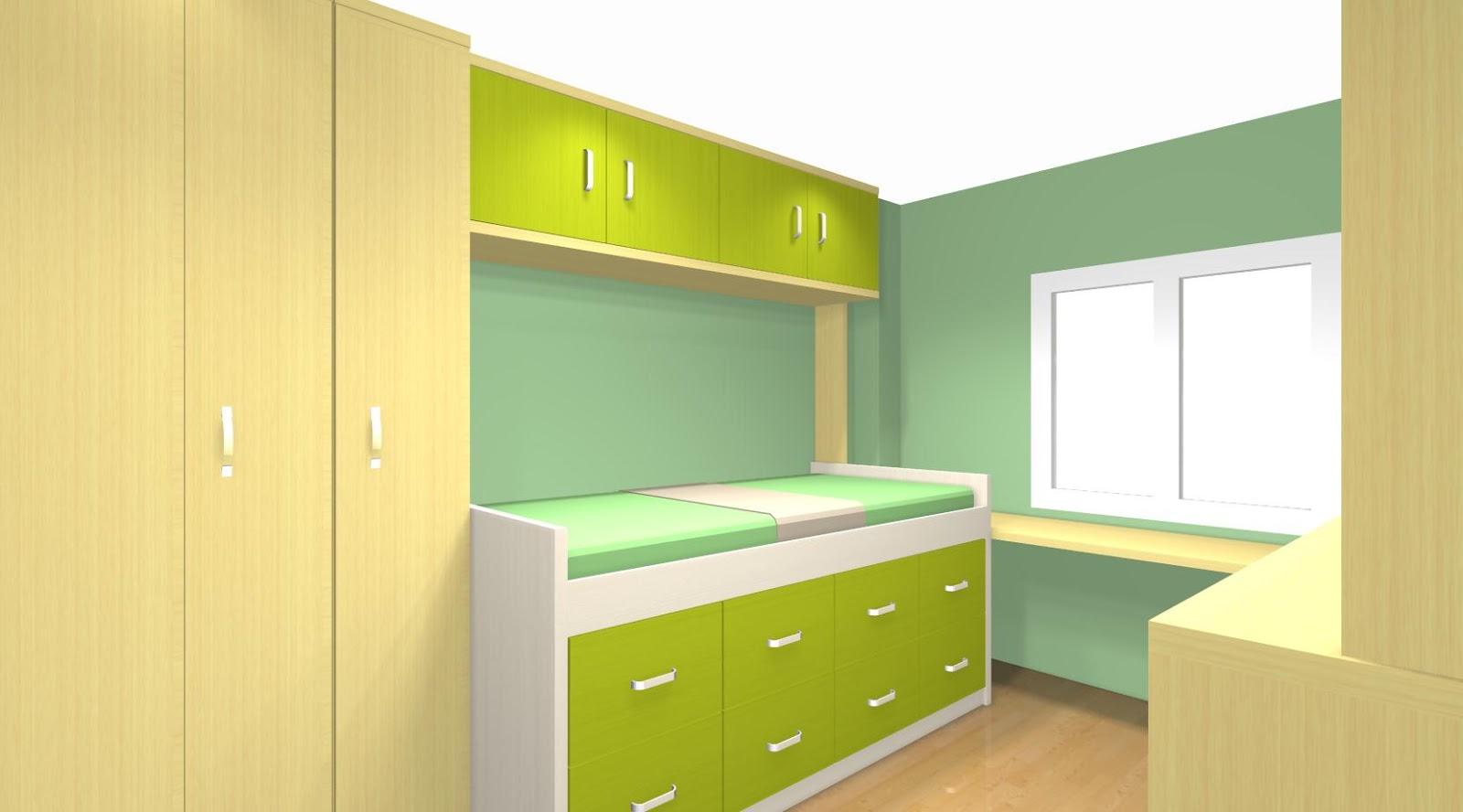 Proyecto dormitorio juvenil con puente - Dormitorios con puente ...