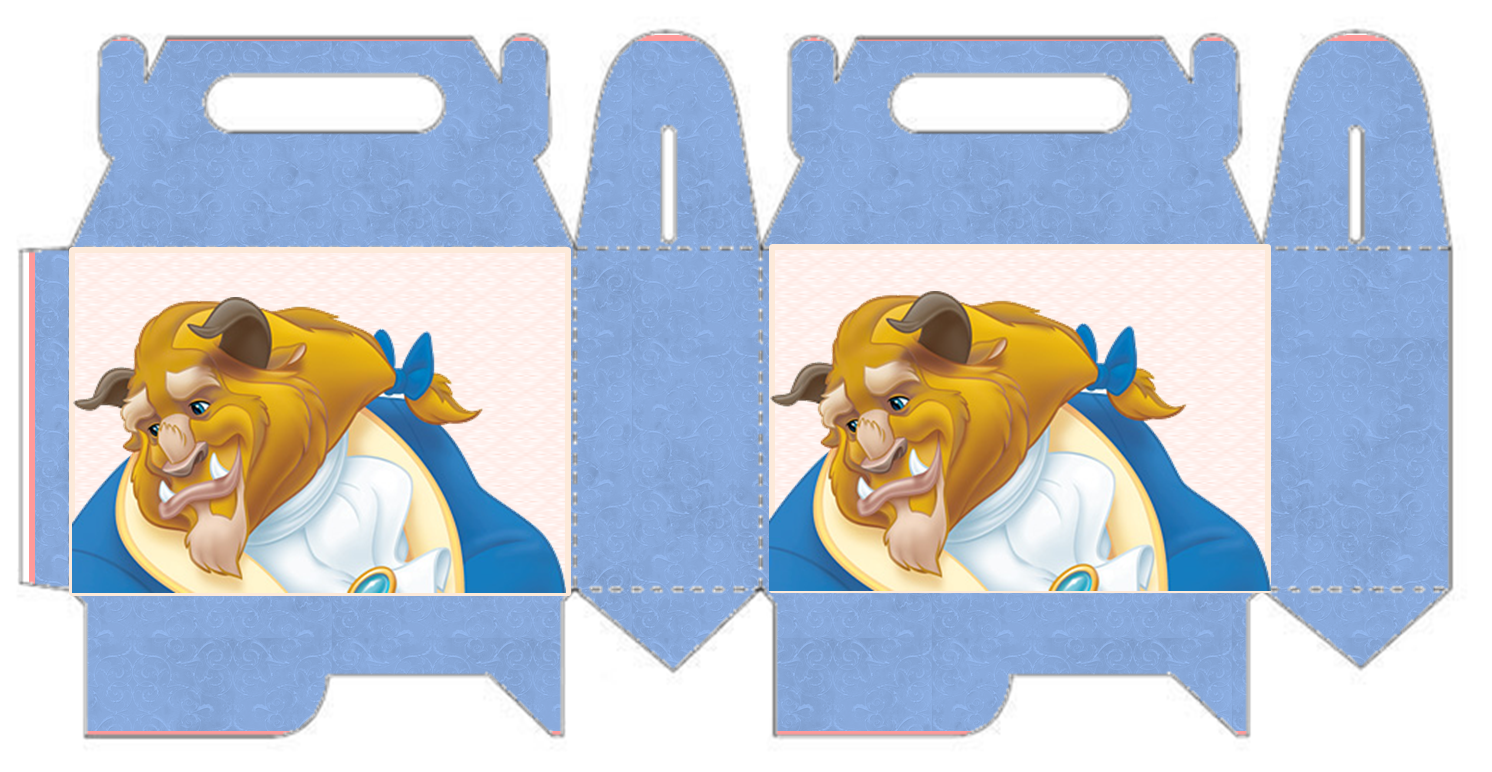 Beast Free Printable Lunch Box for your Beauty and the Beast Party.