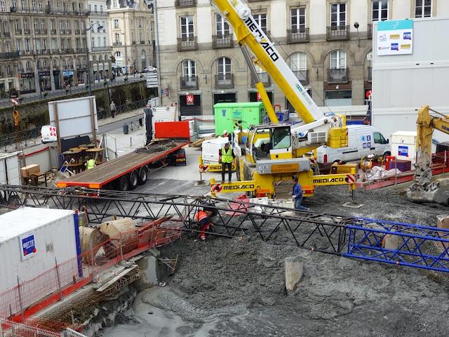 Le chantier, ce matin du 04 mai 2015, 11h25... Le drame vient de se produire...