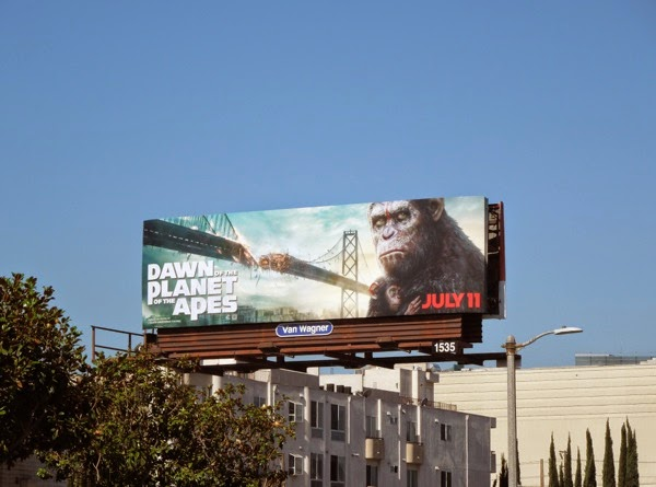 Dawn of the Planet of the Apes movie billboard