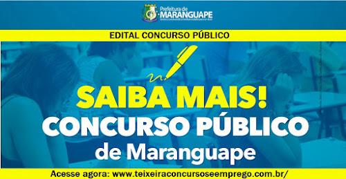 Edital Concurso Prefeitura de Maranguape 2015