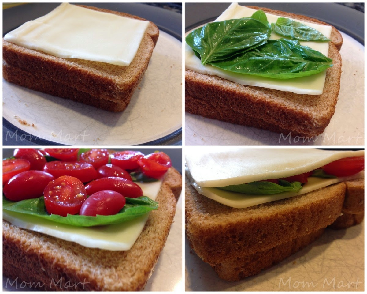 Grilled Cheese Caprese Sandwich #Recipe #ComfortFood #YUM #foodie
