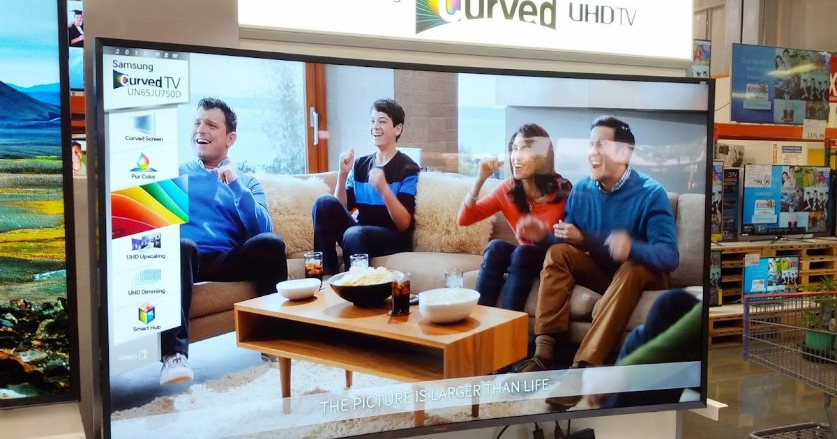 Samsung UN65JU750D 65-inch Curved LED Ultra HDTV | Costco ...