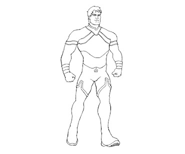 #1 Aquaman Coloring Page