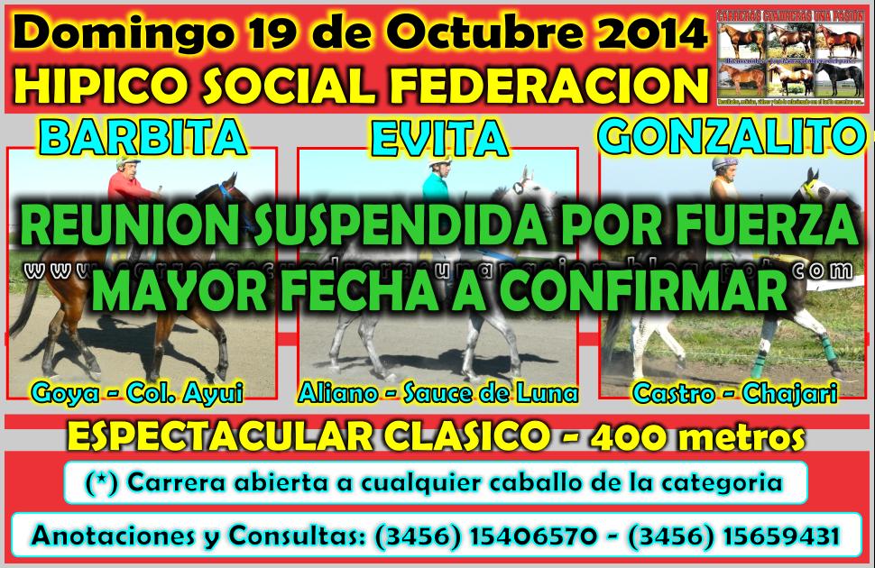 FEDERACION - 19.10.2014 - CLASICO