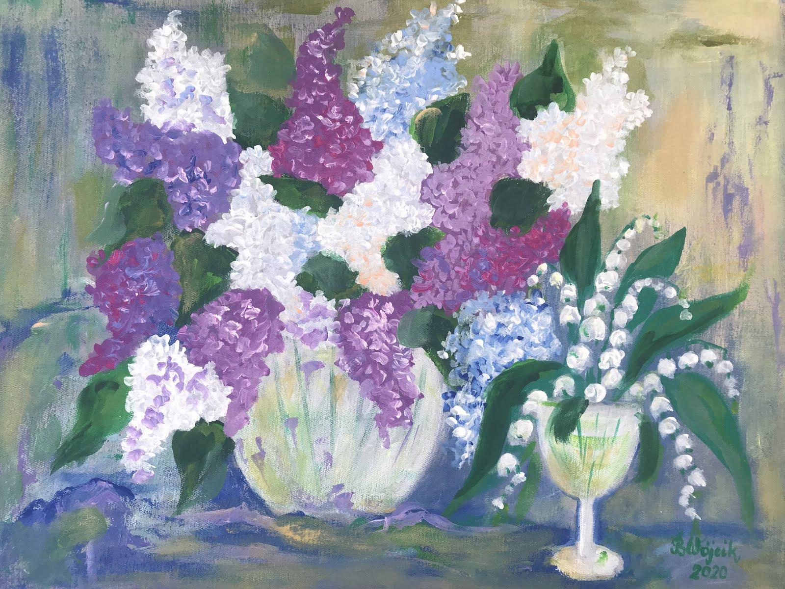 W 7. urodziny bloga kwiatowy obraz wędruje do Agaty Z.