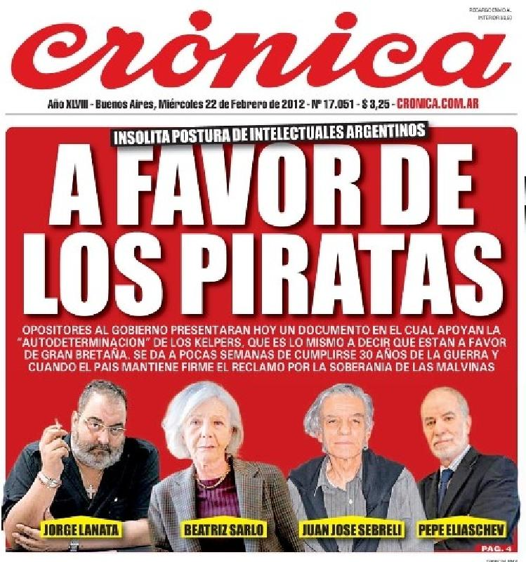Abdicar la Inteligencia en favor de la Usurpaciòn britànica en Argentina