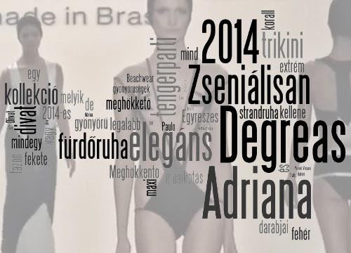 Adriana Degreas Beachwear kollekció 2014 - fürdőruha divat 2014