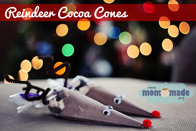Reindeer Cocoa Cones by Mom-Made