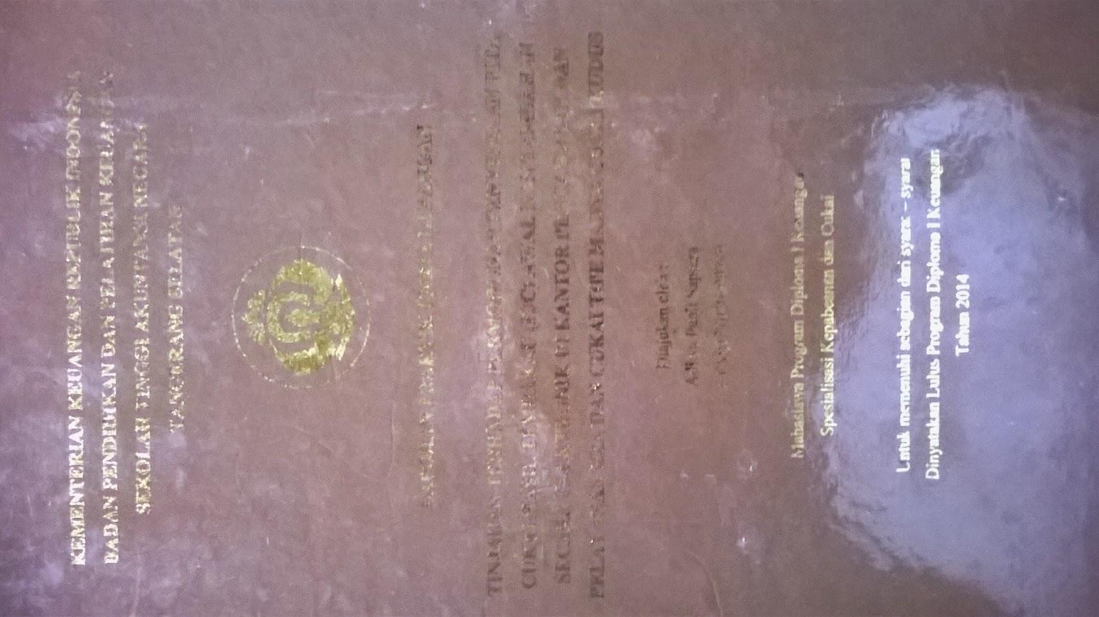 Contoh Laporan PKL D1 Bea Cukai 2014, Dwonload Laporan PKL D1 Bea Cukai 2014, Download Contoh Laporan PKL D1 Bea Cukai 2014