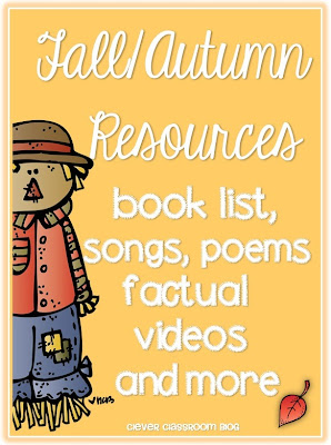 Fall Autumn themed resources books songs factual videos and more