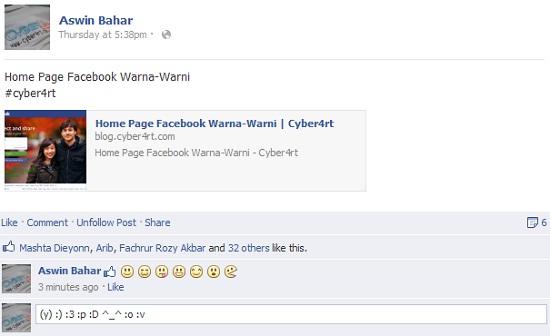 Cara Komentar Facebook Dengan Gambar Emoticon