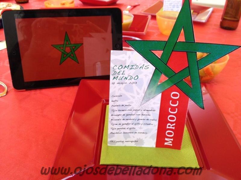 Menú Marruecos, comidas del mundo