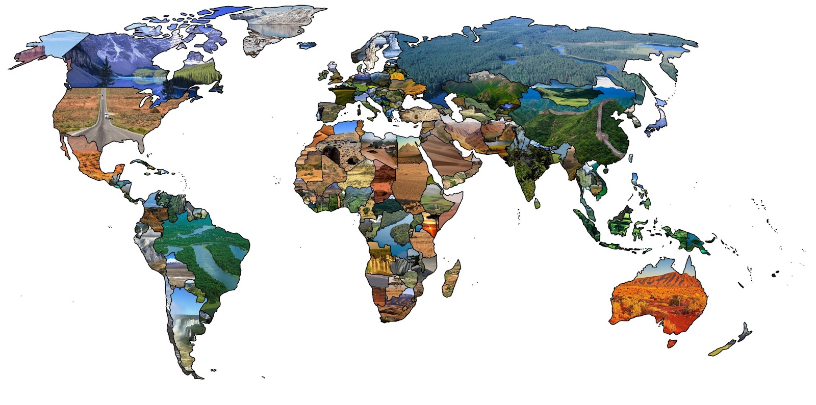 Landscapes (more or less typical) by country