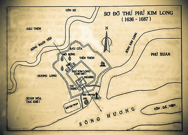 Ảnh tư liệu sơ đồ phủ Kim Long - Một thế giới