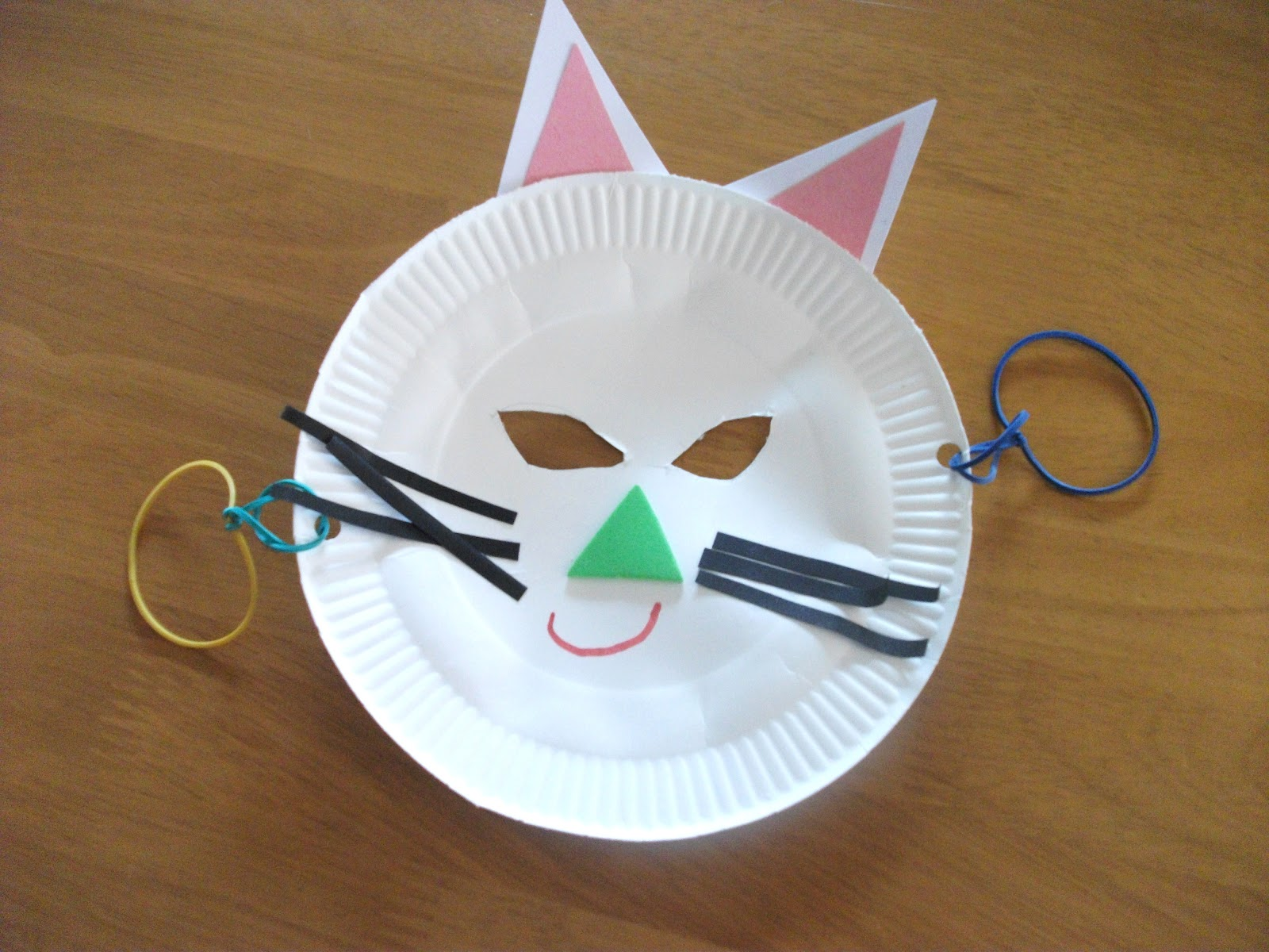 paper plate cat mask craft preschool education for kids On kitten crafts for preschoolers