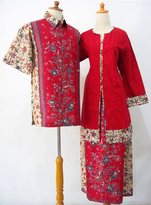 Batik Seragam Keluarga Baju Sarimbit Keluarga Gamis Merah