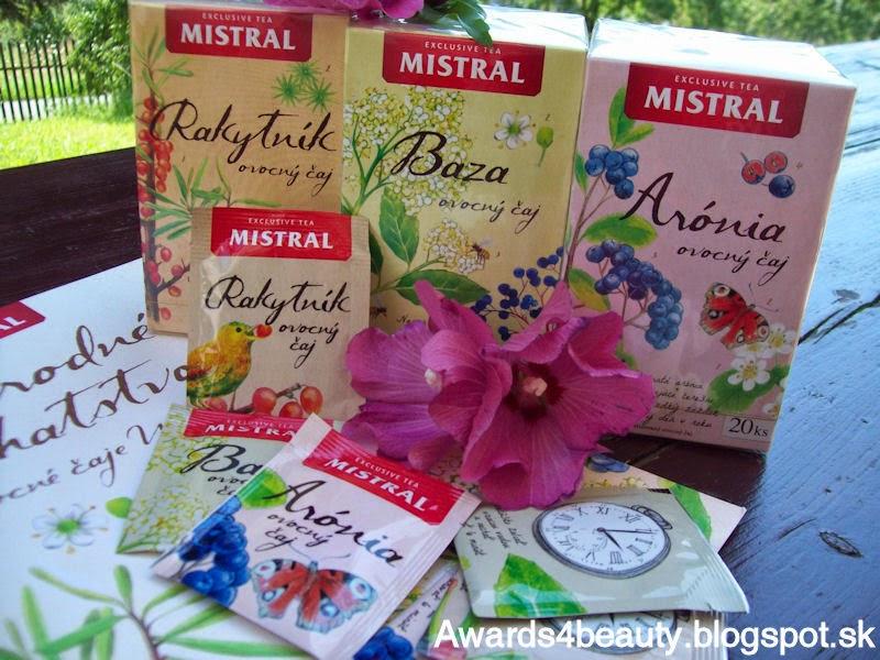 Nové čaje Mistral s príchuťou rakytníka, bazy a arónie