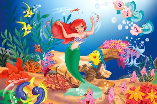 Caricaturas muy tiernas - Little mermaid cartoon