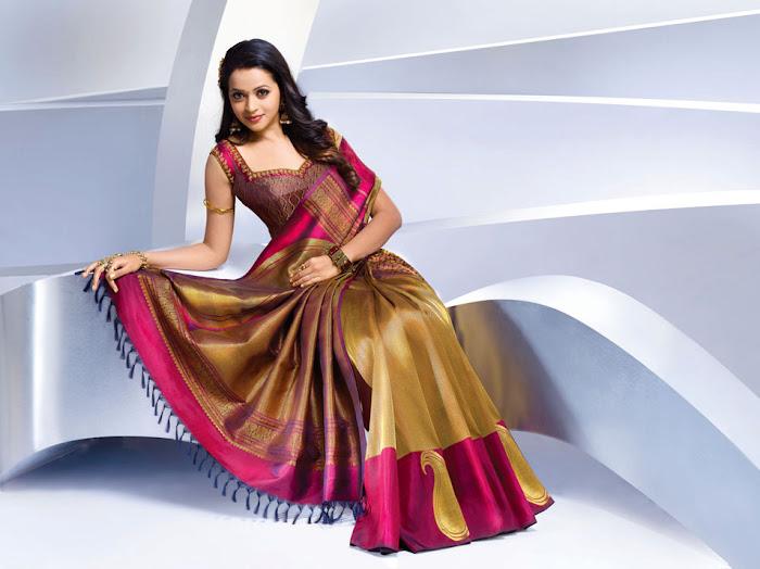 bhavana nwe saree , bhavana hot photoshoot