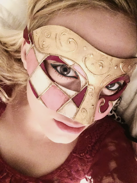 Makeup with Masquerade Mask