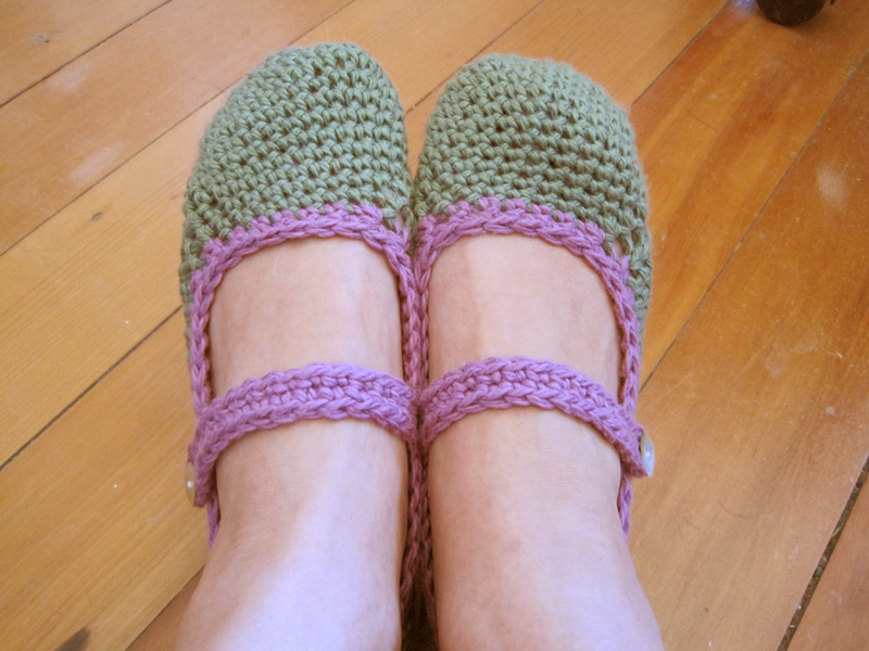 Crochet mary janes for adults