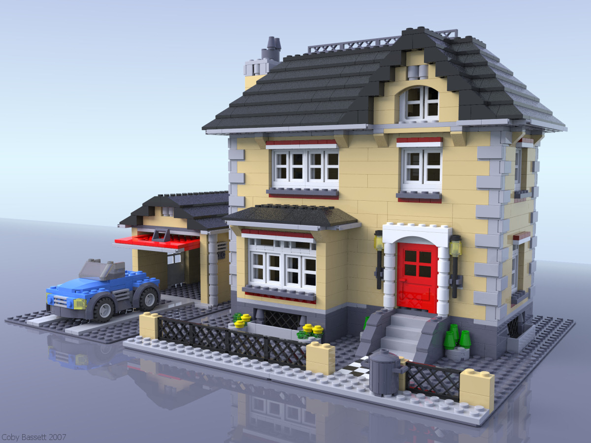 Ray traced lego mania 4954 creator model town house