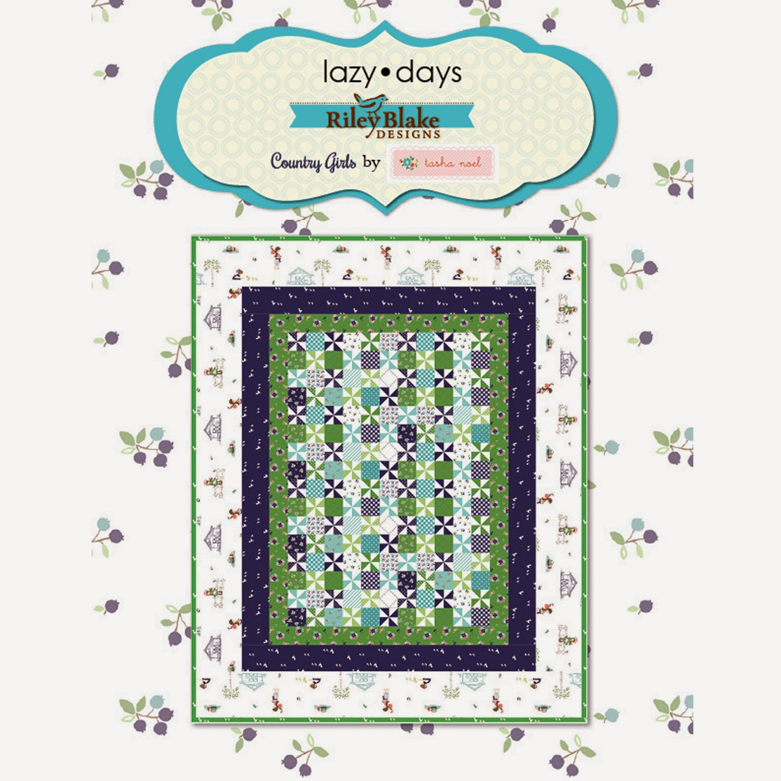 Free Quilt Pattern using Riley Blake Designs COUNTRY GIRLS Quilt Fabric by Tasha Noel