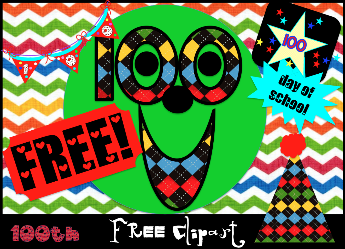 100th Day of School Clipart The 100th Day of School