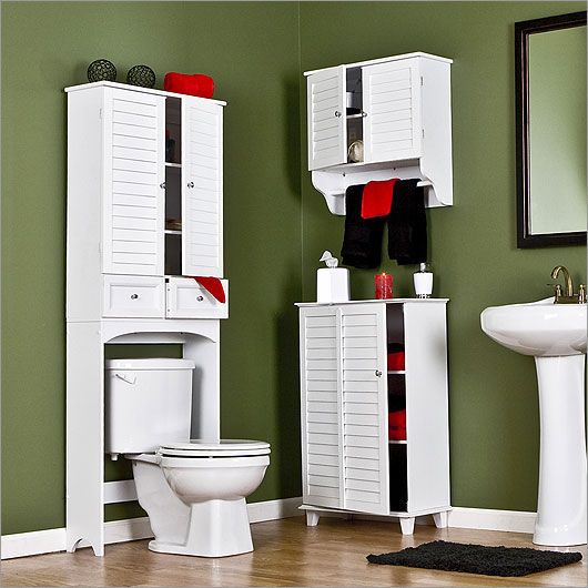 Small bathroom storage cabinets for Imagenes de banos modernos