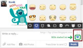 cara kirim stiker facebook dari pc dan browser