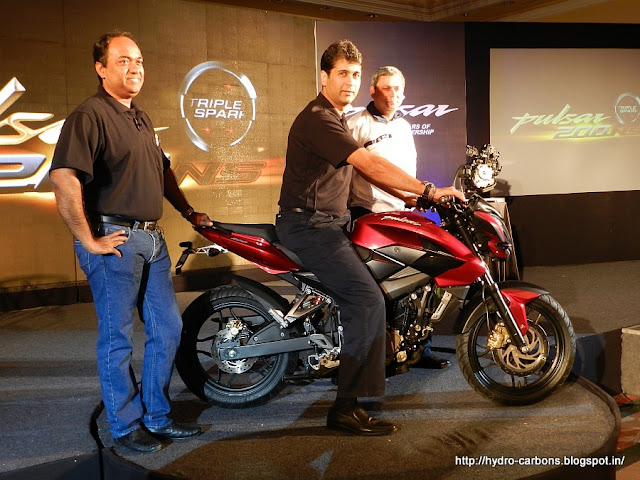 The new Bajaj Pulsar 200NS ( Naked Sport )