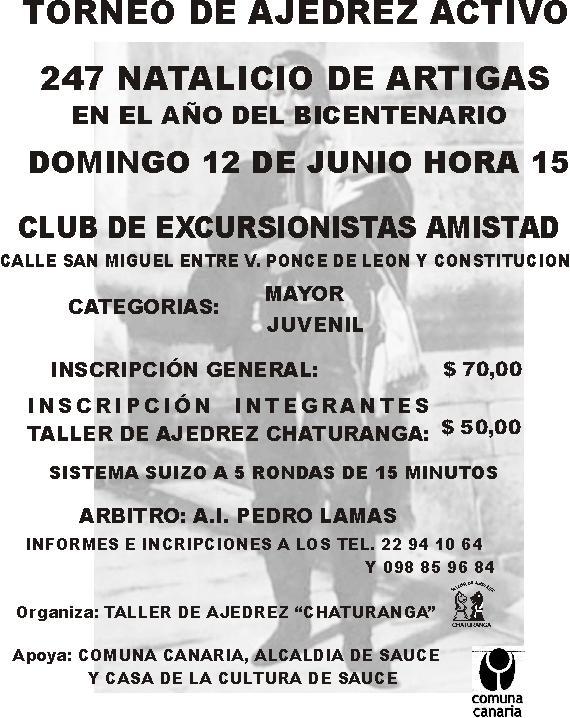 Taller De Ajedrez Chaturanga 247 Natalicio De Artigas