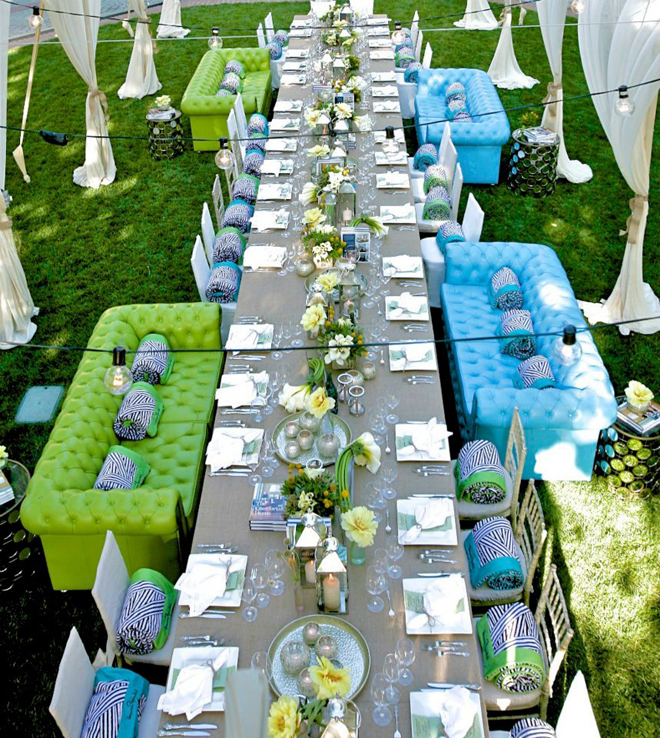 Long wedding table ideas part 2 belle the magazine - Deco table exterieur ...