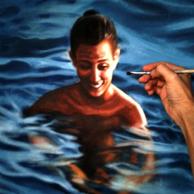 Hyperrealistic, Lukisan realistis, realistic painting