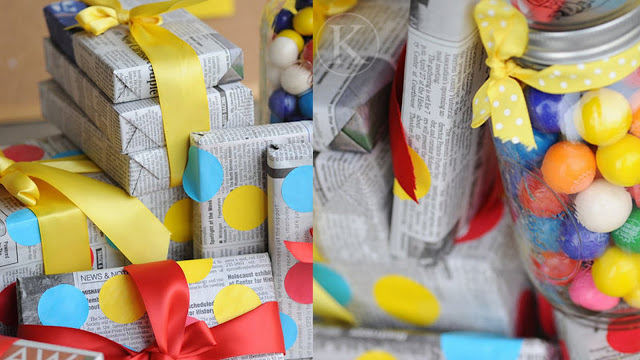 Earth Day newspaper wrapping paper