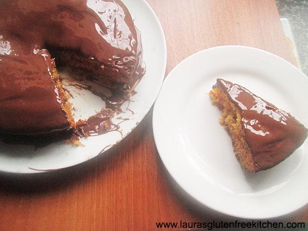 Gluten Free chocolate smothered Marmalade Cake