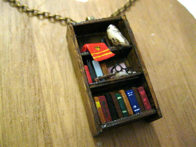 I Wanted To Design The Other Hogwarts Houses In Necklace Form As Well But Wasnt Sure What Objects Could Be Placed On Shelves