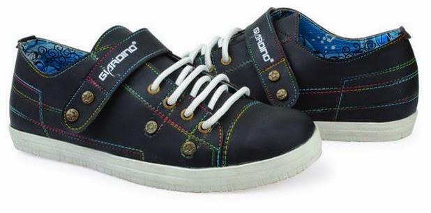 Sepatu: Sepatu Kets Pelangi Hitam Giardino