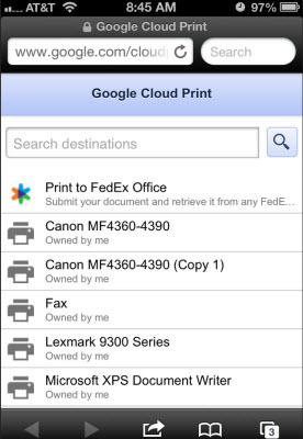 ios browser print to pdf