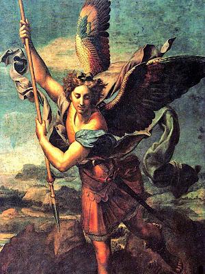 En la imagen San Miguel Arcangel sometiendo al diablo