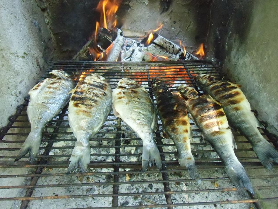 Cucinare con passione spigola branzino alla griglia for Cucinare branzino 5 kg