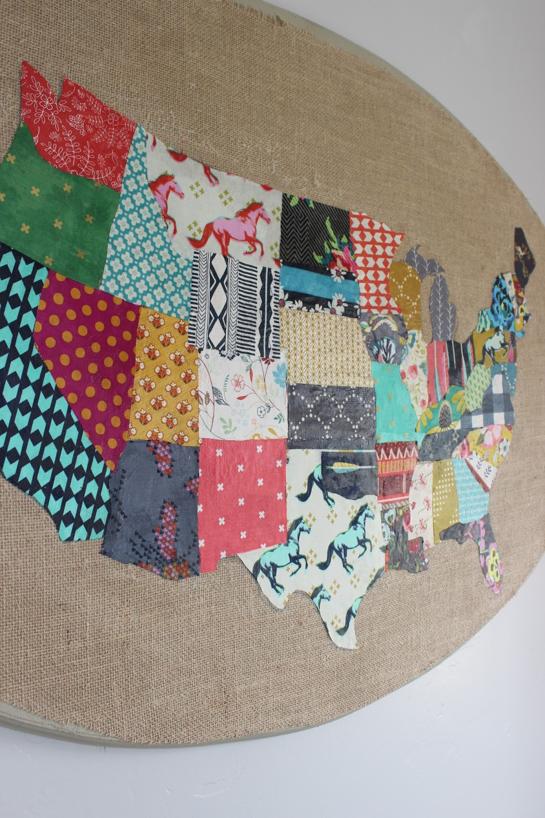 Tweetle Dee Design Co My Country Fabric Collage Fresh Living - Us map individual states