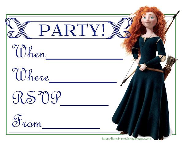 Free Printable Brave Birthday Invitations