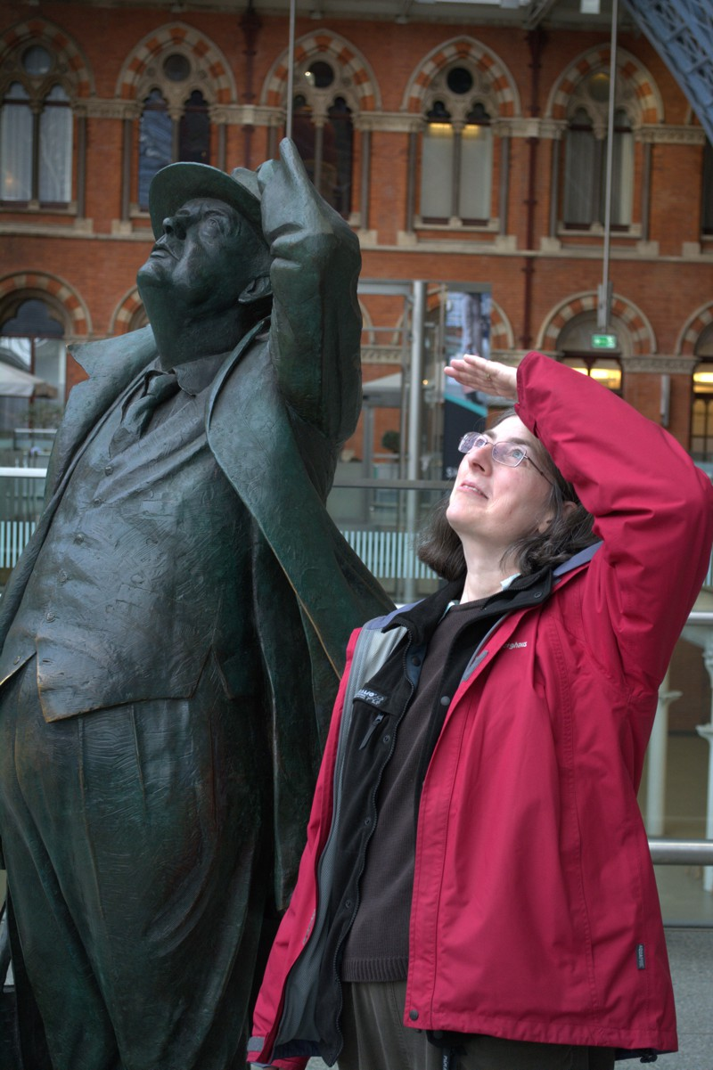 Jane next to Betjeman